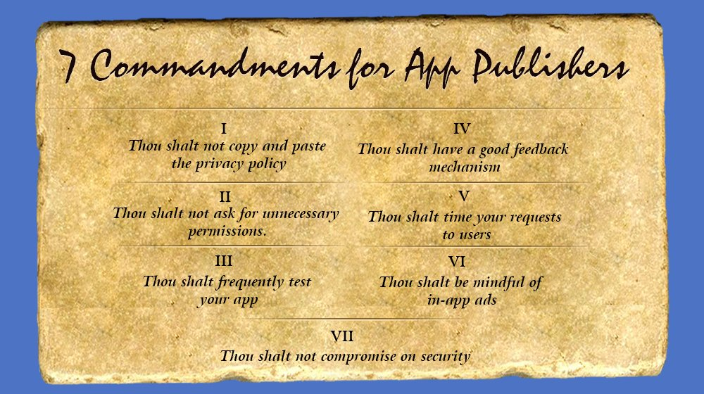 7 Commandments for Mobile App Developers