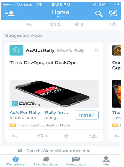 Twitter Suggested apps