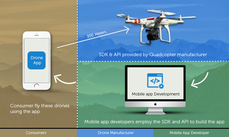 A drone startup fundamentally has three entities