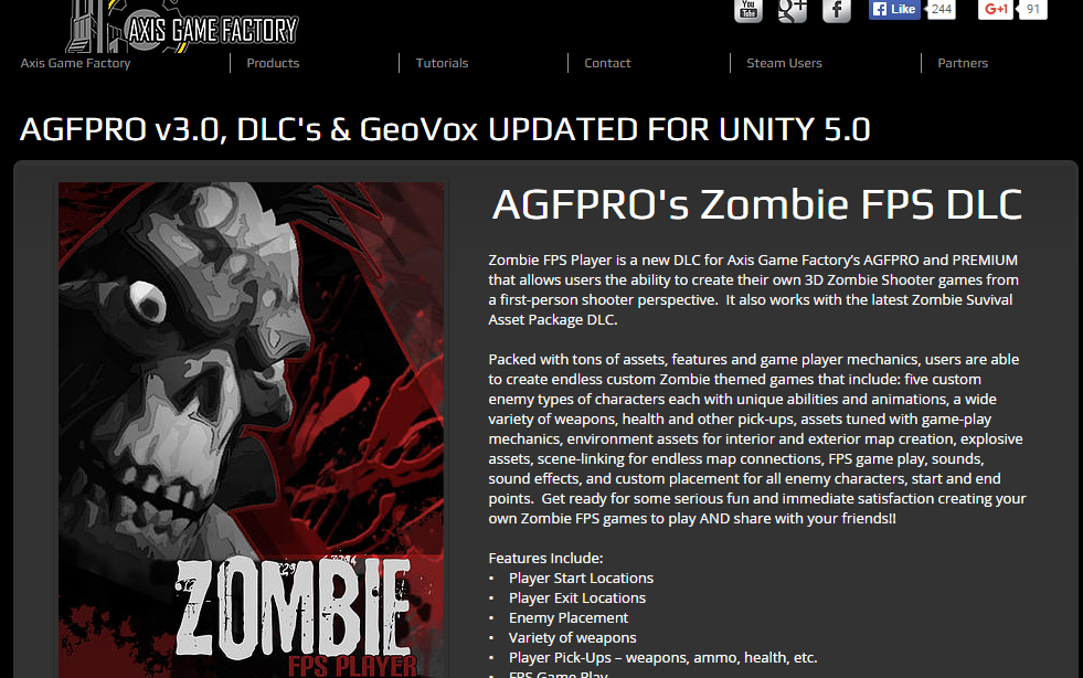 An Zombie FPS pack from Axis Game Factory
