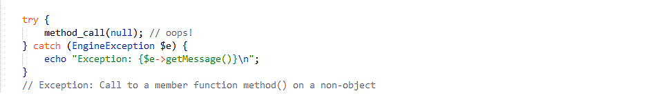 Base Exception in PHP 7.0