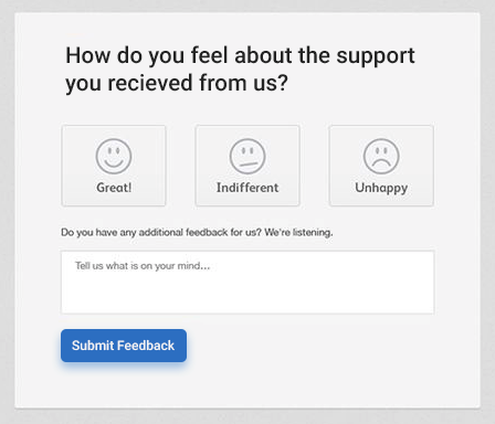 Customer's Feedback UX Design