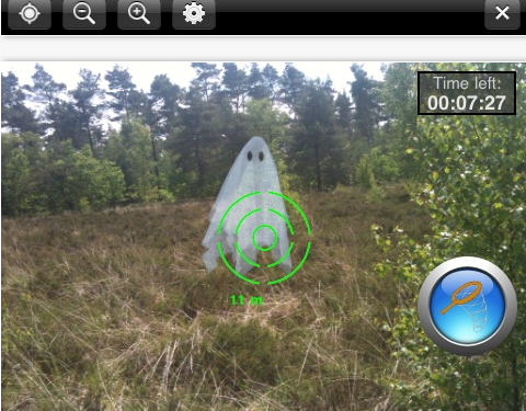 Ghost hunting with Spectrek AR app