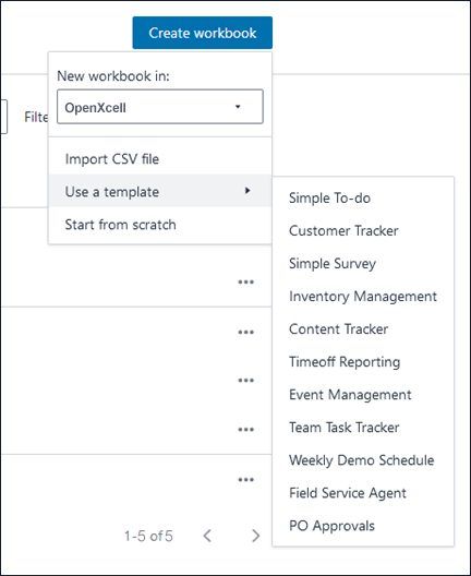Honeycode workbook Page