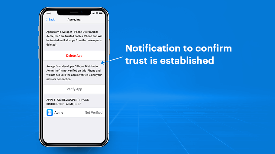 receive a confirmation notification